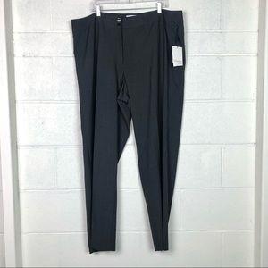 NEW Calvin Klein gray straight leg pants 20W